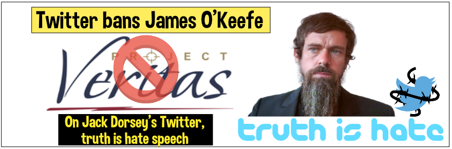 On left/liberal controlled Twitter, truth is hate speech