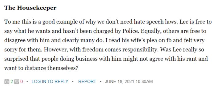 Kiwiblog comment